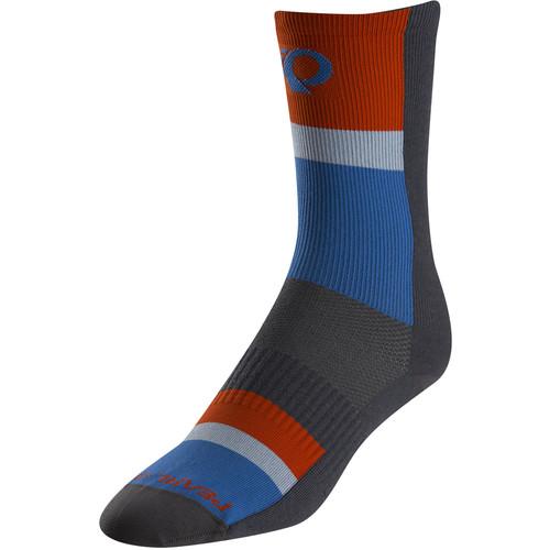 Pearl Izumi ELITE Tall Sock (Small, Long Stripe Blue)