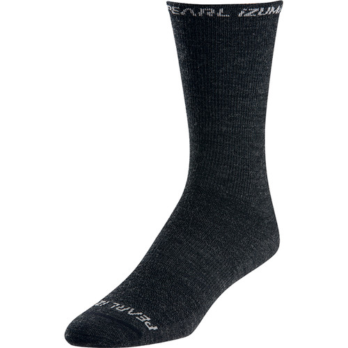 Pearl Izumi ELITE Tall Wool Sock (Large, Black)