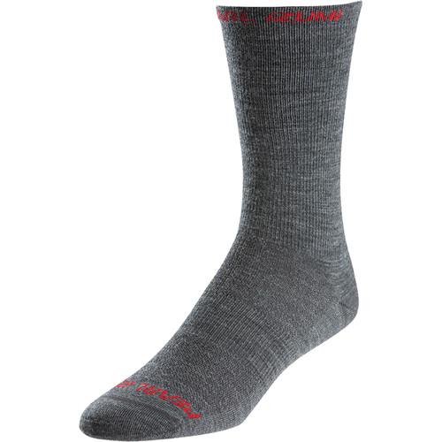 Pearl Izumi ELITE Tall Wool Sock (Medium, Gray)