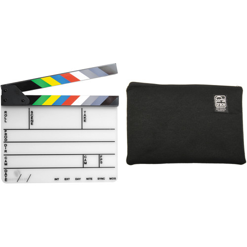 Pearstone 9 x 11 Acrylic Dry Erase Clapboard with Carry Pouch Kit