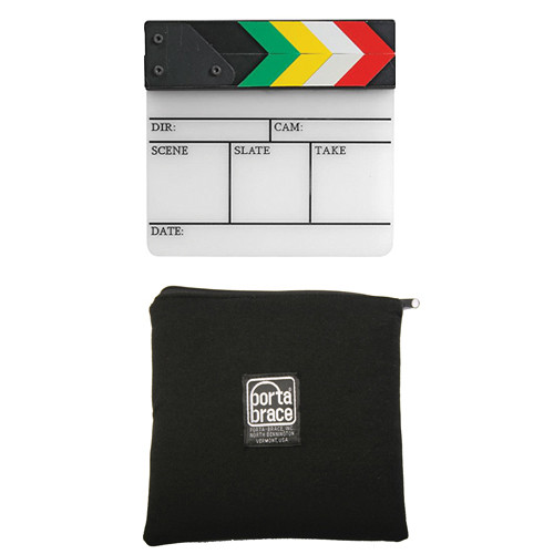 "Pearstone 7"" x 7.25"" Dry Erase Clapboard & Padded Black Pouch Kit"