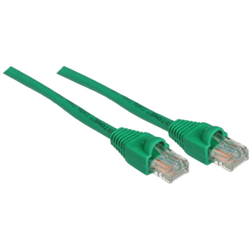 Pearstone 1' Cat6a Snagless Patch Cable (Green)