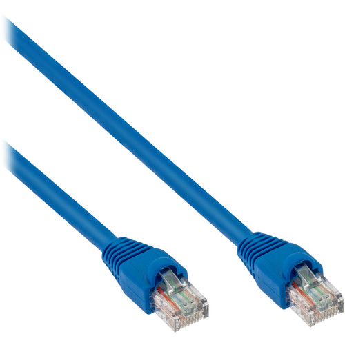 Pearstone Cat 6a Snagless Patch Cable (1', Blue)