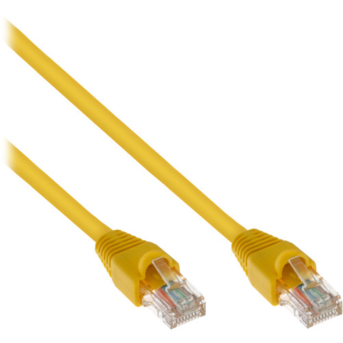 Pearstone Cat 6a Snagless Patch Cable (7', Yellow)