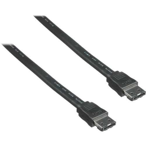 Pearstone 3.3' eSATA Male to eSATA Male Cable (Black)