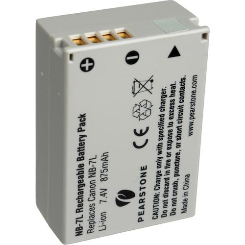 Аккумуляторная батарея li-ion nb-7l для canon 74v 1050mah