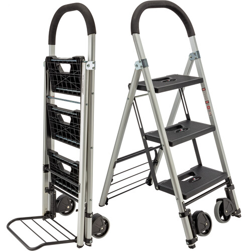 Pearstone PSL-3S 3-Step HD Photographers Ladder With Wheels