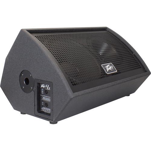 "Peavey QW MR 2-Way Full-Range Floor Monitor Loudspeaker with 15"" Woofer (Right, Black)"