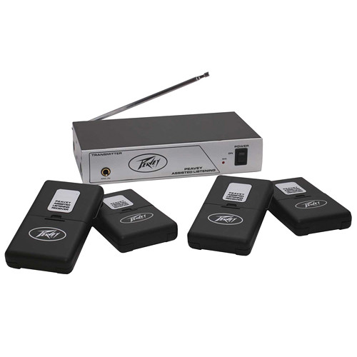 Peavey 4-User Single-Channel Wireless Assisted Listening System (72.1 MHz)