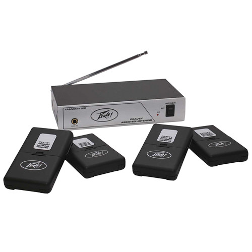 Peavey 4-User Single-Channel Wireless Assisted Listening System (72.9 MHz)