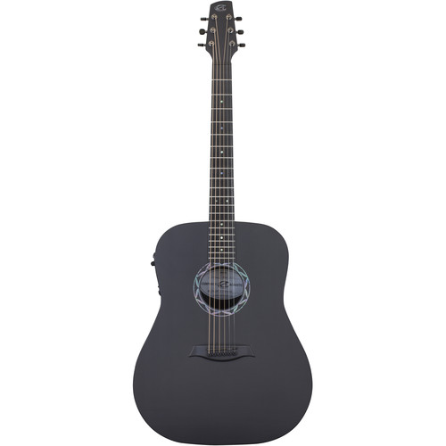 Peavey Legacy Acoustic Guitar with Electronics (Satin Black / Raw Carbon Fiber Top)