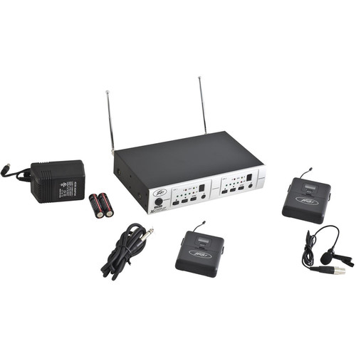 Peavey PV 16DR Channel UHF Receiver System GTR/BL