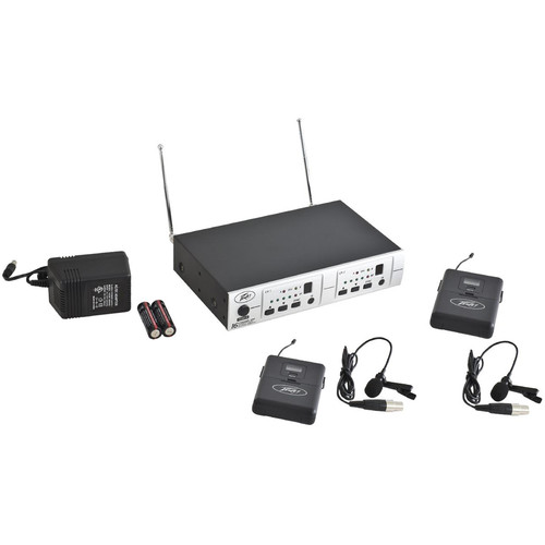 Peavey PV 16DR Channel UHF Receiver System BL/BL