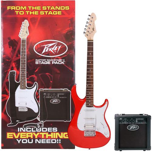 Peavey Raptor Stage Pack Electric Guitar Starter Bundle (Red)