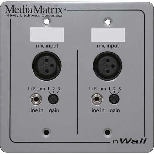 Peavey Media Matrix nWall Cobranet I/O Wall Panel