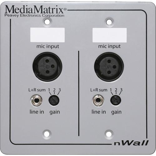 MediaMatrix MediaMatrix nWall CobraNet Connected Mic/Line Input Wall Plate