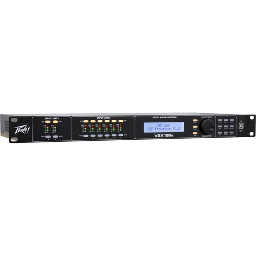 Peavey VSX 26e Programmable Loudspeaker Management System (1 RU, 2 Inputs, 6 Outputs)