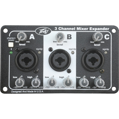 Peavey 3-Channel Mixer Expansion Module