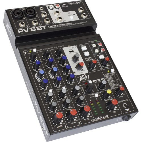 Peavey PV 6 BT Mixing Console with Bluetooth