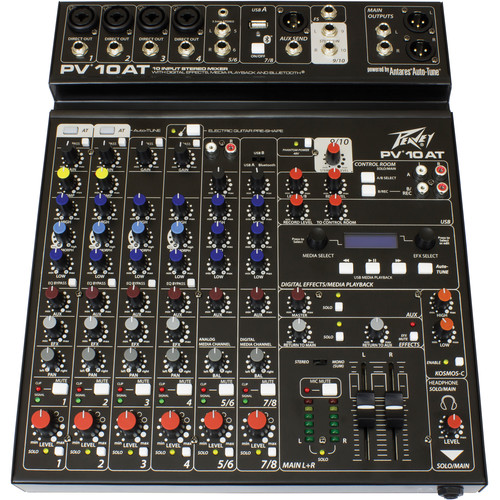 Peavey PV 10 AT Mixing Console with Bluetooth and Antares Auto-Tune