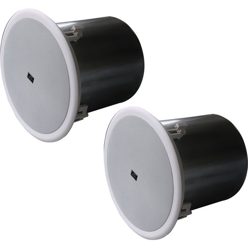 "Peavey PHR 860 8"" Metal Can Ceiling Speakers (Pair, White)"