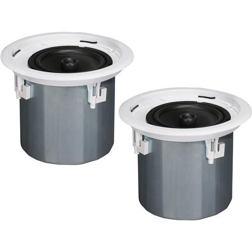 """Peavey PHR 860 8"""" Metal Can Ceiling Speakers (Pair, Black)"""