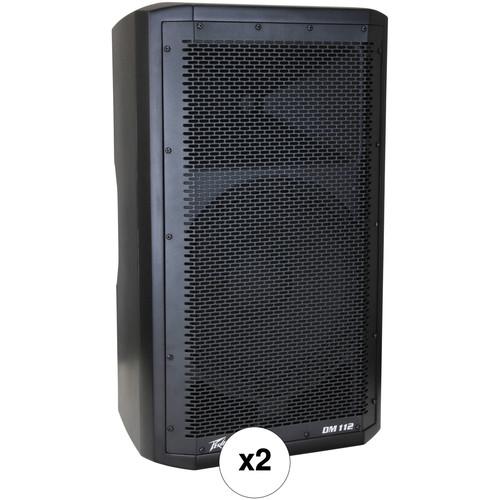 """Peavey DM 112 12"""" 2-Way 205W Powered Speaker Pair Kit"""