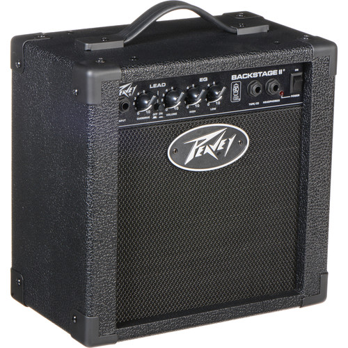 Peavey Backstage II Amp & Essentials for Electric Guitar Kit with Picks, Strap, Stand, Tuner, and Cable