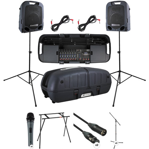 Peavey Escort 5000 Kit with 2x Microphone & Stand Packages and Escort Stand