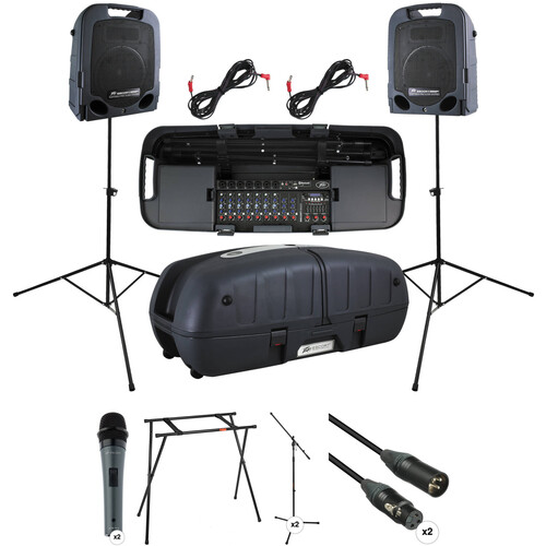 Peavey Escort 6000 Kit with 2x Microphone & Stand PA Packages and Escort Stand
