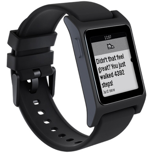 Pebble 2 SE Smartwatch (Black/Charcoal) 100100057 B&H Photo
