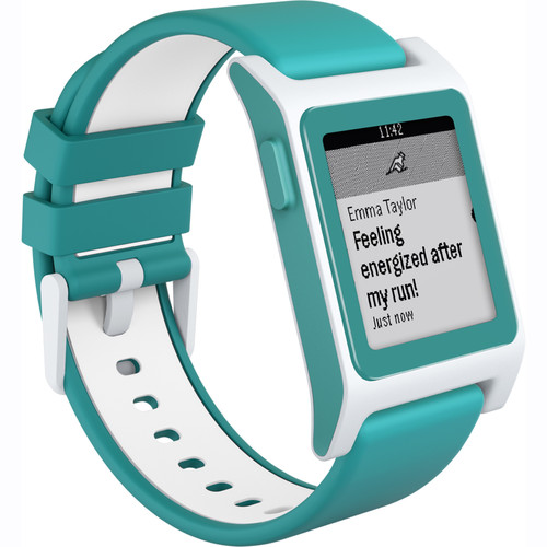 Pebble 2 HR Smartwatch (Aqua/White)