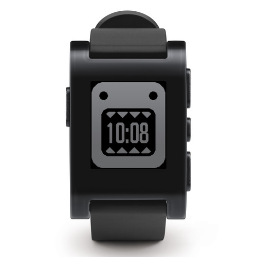 Pebble Smartwatch (Jet Black, TPU Rubber Band) 301BL B&H Photo