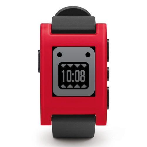 Pebble Smartwatch (Cherry Red, TPU Rubber Band) 301RD B&H ...