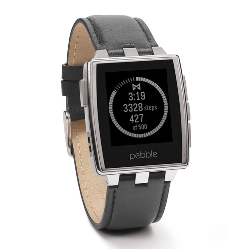 Pebble Steel Smartwatch (Brushed Stainless)