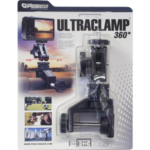 """Pedco UltraClamp 360 Swiveling Ball Clamp with 1/4""""-20 Mount"""