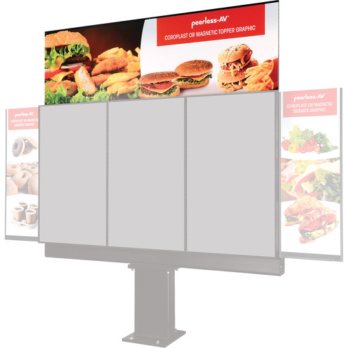 Peerless-AV Topper for 3-Panel Outdoor Digital Menu Board Kiosk