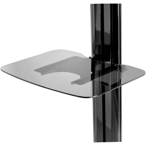 Peerless-AV ACC-GS1 SmartMount Tempered Glass Shelf for SR Carts and SS Stands (Black)