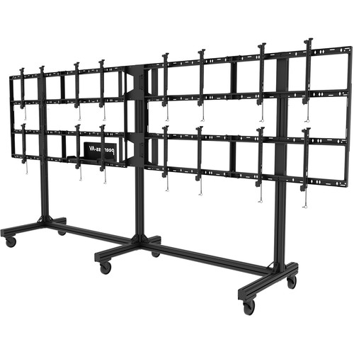 """Peerless-AV Portable Video Wall Cart for 46 to 55"""" Displays (2x2, 3x2, or 4x2 Configuration)"""