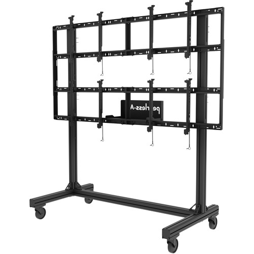 """Peerless-AV Portable Video Wall Cart for 46 to 60"""" Displays (2x2 Configuration)"""