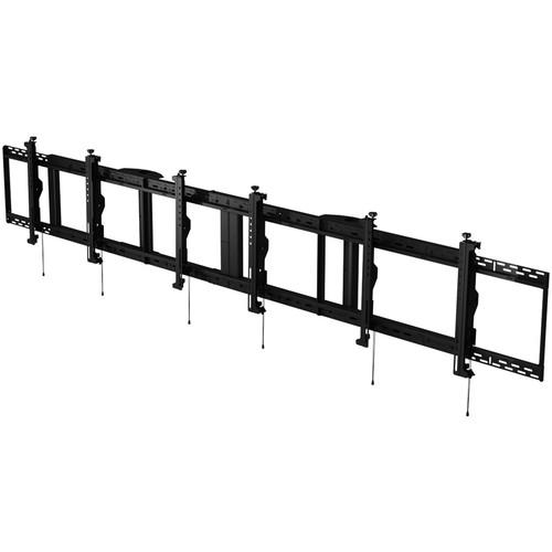 "Peerless-AV SmartMount Digital Menu Board Ceiling Mount with 8-Point Adjustment for 40 to 42"" Displays (3x1 Configuration)"