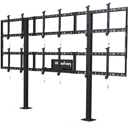 "Peerless-AV Modular Video Wall Pedestal Mount for 46 to 55"" Displays (3x2 Configuration)"