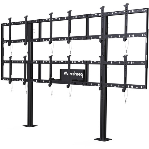 "Peerless-AV Modular Video Wall Pedestal Mount for 46 to 55"" Displays (3x2 Configuration)"