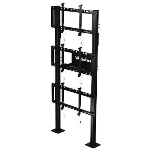 "Peerless-AV Modular Video Wall Pedestal Mount for 46 to 60"" Displays (1x3 Configuration)"