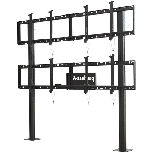 "Peerless-AV Modular Video Wall Pedestal Mount for 46 to 60"" Displays (2x2 Configuration)"