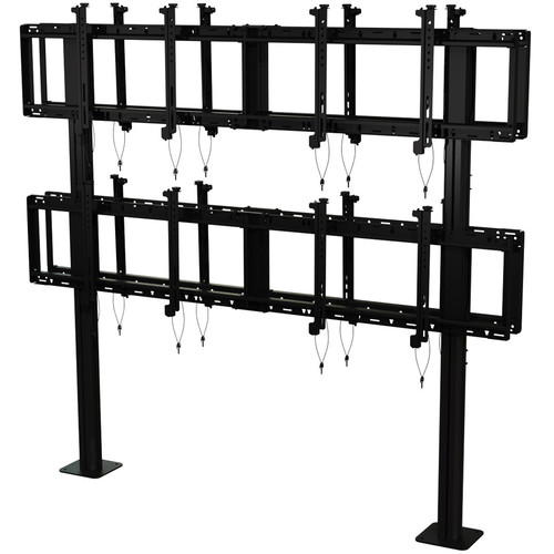 "Peerless-AV Back-to-Back Modular Video Wall Pedestal Mount for 46 to 60"" Displays (2x2 Configuration)"