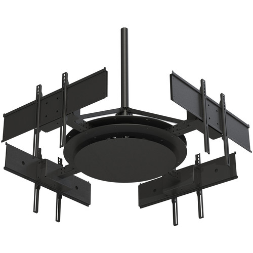 """Peerless-AV Multi-Display Ceiling Mount with Four Telescoping Arms for 37 to 75"""" Displays"""