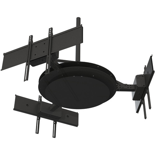 "Peerless-AV Multi-Display Ceiling Mount with Three Telescoping Arms for 37 to 80"" Displays"