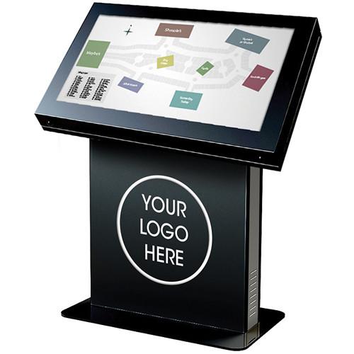 """Peerless-AV KIL555 Landscape Kiosk Enclosure for 55"""" Displays (Gloss Black)"""