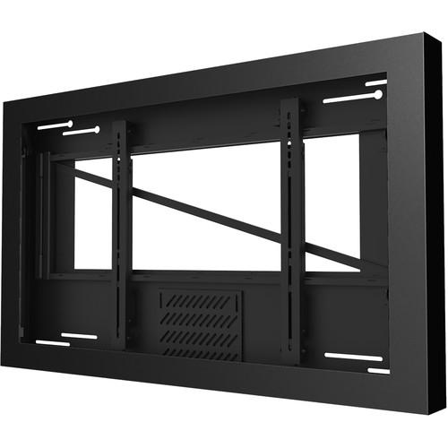 "Peerless-AV On-Wall Landscape Kiosk for 47"" Displays up to 3.5"" Deep (Black)"